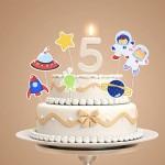 BESTonZON 24pcs Cake Toppers Astronauta Space Shuttle Serie UFO Festa di Compleanno Torta di Frutta Raccoglie Forniture di Decorazione Alimentare p...