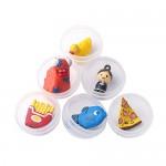 24 Pezzi Grandi Capsule Trasparenti Uova con Sorpresa contenenti giocattoli per bambini| Regalo per festa di compleanno o natale | Sorprese per mac...