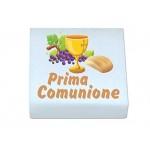 QUADRATINI DI MARSHMALLOW STAMPATI 1 CONFEZIONE + 20 BIGLIETTINI BOMBONIERA (PRIMA COMUNIONE 0899)