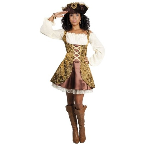 Boland 87794 - Costume per travestimento da pirata, per donne adulte, vestito e cappello, taglia: 40-42