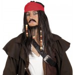 Boland 86343 - Jack Tobias Parrucca Pirata con Bandana, Baffi e Barba