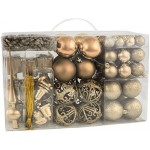 BRUBAKER 101 pezzi set di decorazioni per l'albero di Natale con puntale albero di Natale champagne