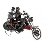 BRUBAKER Portabottiglie da vino regalo - coppia in motocicletta