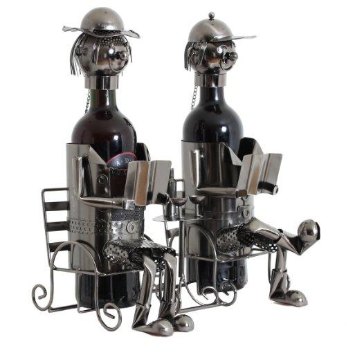 BRUBAKER portabottiglie dal design coppia di coniugi