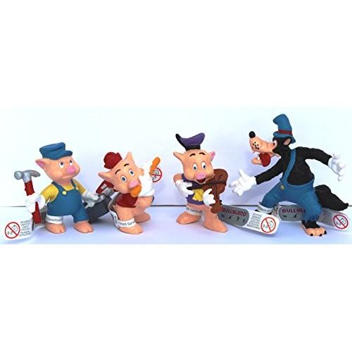 Bullyland - Disney 3 piccolo Maialino - Set giochi 4 Figure incl. cattivo Wolf