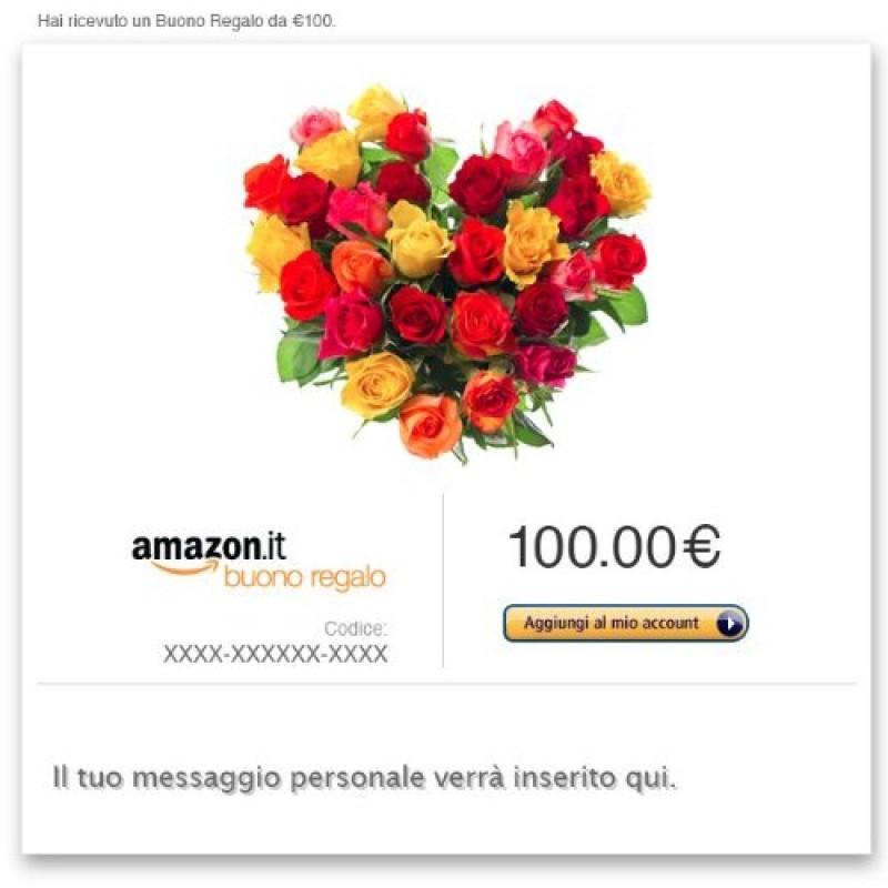 nuovo stile vendita economica materiali superiori Buono Regalo Amazon.it - E-mail - Cuore di fiori