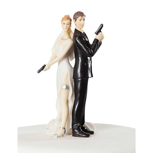 Cake topper sposi in azione