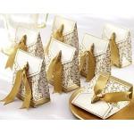 20pz bomboniere scatole matrimonio oro anni cerimonia festa regalo invito