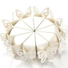 50pz Farfalle Perlata Matrimonio Segnaposto Bomboniere Porta riso Porta confetti