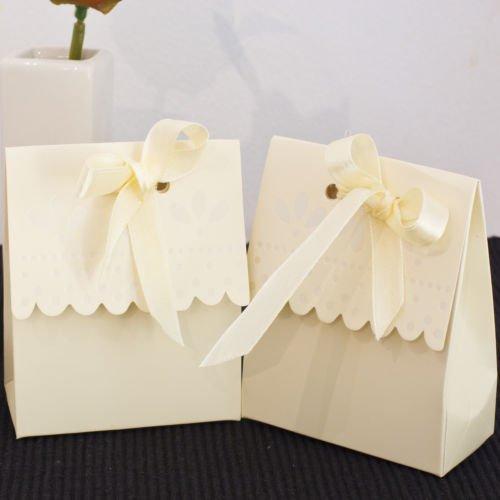 50pz scatole bomboniere portaconfetti confettata festa cresima matrimonio colore AVORIO CREMA