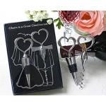 Bomboniera Regalo tappo e cavatappo ACCIAIO matrimonio sposo sposa