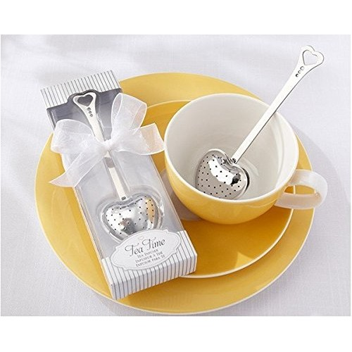 Bomboniera TEA TIME Colino da tè - infusore a cucchiaio in elegante box con il nastro