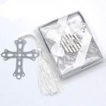 Segnalibro battesimo Laurea in metallo con nappe bomboniere forma croce