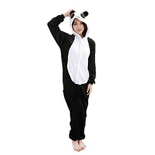 Costume Animali Cosplay Carnevale Halloween Pigiama Tuta Costumi Travestimenti per Uomo Donne Adulti Ragazza (XL (per Altezza 173-183cm), Panda)