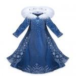 CIRAD Vestito Bambina Costume Ragazze Frozen Principessa Abiti Partito Vestito Elsa Anna (110 (4 - 5 Anni))