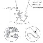 Clearine Collana 925 Argento Collana per donna - Sagittario Costellazione Collana zodiacoo 12 Oroscopo Astrologia zircone Collana pendente Regalo d...