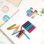 Comius 12 Pcs Zaini per Bambini da Colorare. Include 24 Pcs le Cere Colorate Ideale per Regali per Feste di Compleanno, Comunioni