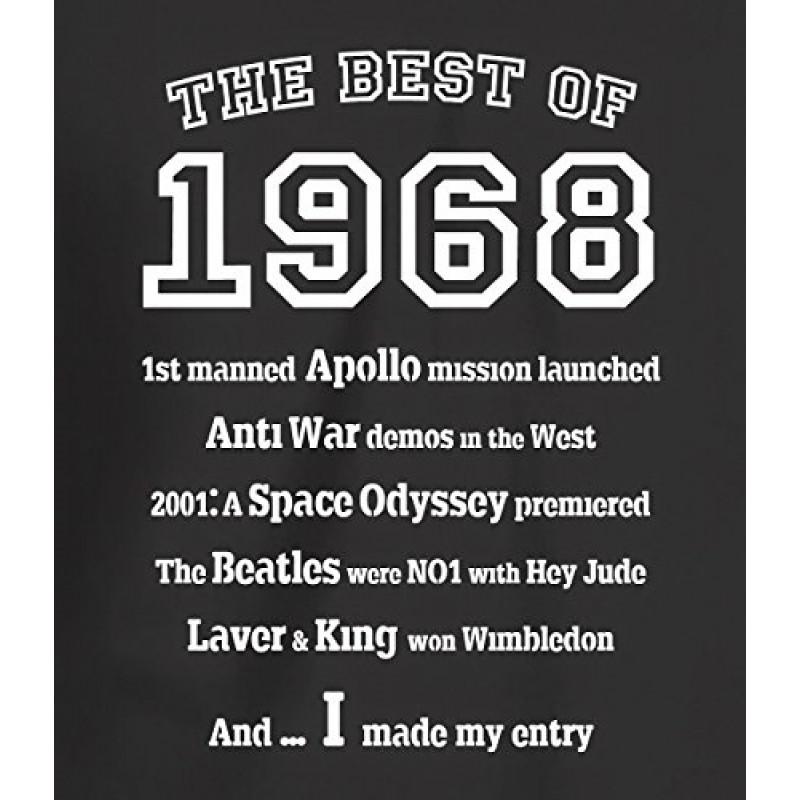 Maglietta Da Uomo The Best Of 1968 Regalo Di Compleanno Per 47 Anni