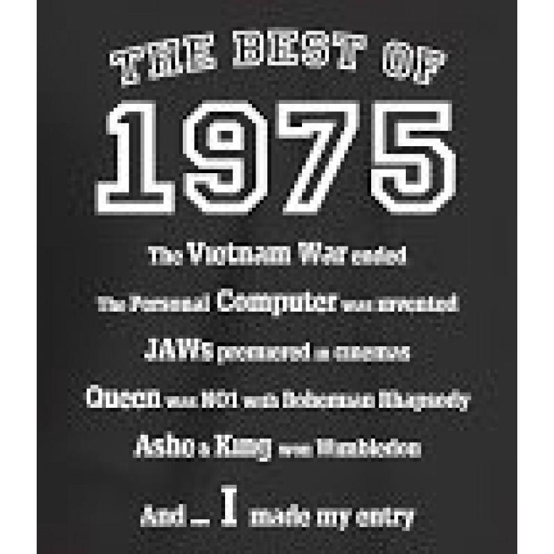 Maglietta Da Uomo The Best Of 1975 Regalo Di Compleanno Per 40 Anni