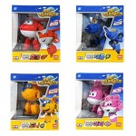 Super Wings Hogi + Jerome + Donnie + Ari Transforming Planes series Toy Funny Flux TV Animation Character by David Toy