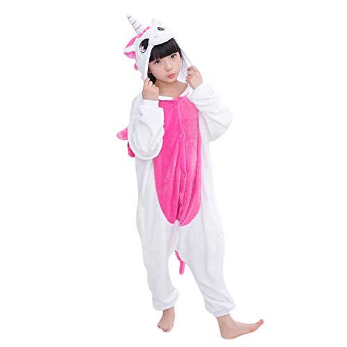 DEBAIJIA Pigiama Animali BambiniUnisex Party Halloween Cosplay Sleepwear per Ragazzo Ragazza Unicorn Rosa - 85