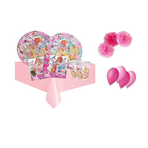 DECORATA PARTY Kit N.49F Compleanno Winx