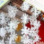 DegGod 18 Pezzi natale decorazioni di fiocchi di neve bianco per appendere ornamenti albero di Natale (15CM)
