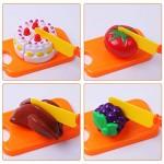 DigHeath 34 Pezzi Taglio Frutta e Finti Alimenti, Tagliare i Giocattoli, Giocattoli di Plastica per Tagliare Frutta, Gioco di Ruolo Piccolo Cuoco p...