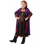 Disney Costumi Vestito con Treccia per Ragazze Il Regno di Ghiaccio Anna Multicolore 3-4 Anni