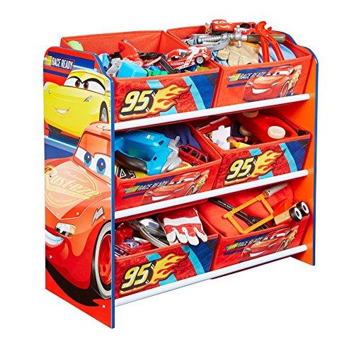 Disney Porta Giochi con 6 contenitori, Legno_Composito, Multicolore, 60x63.50x30 cm