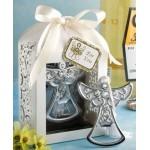 Lotto di 20apribottiglie a forma di angelo, in scatola regalo, per gli invitati alla prima comunione