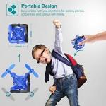 DROCON Mini Drone per Bambini e Principianti, Mini Elicottero quadricottero Pieghevole RC con Mantenimento dell'altitudine, modalità Senza Testa, l...