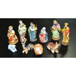 Set Statuine Natività Pastori 10 figure in resina 9cm