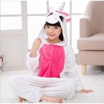 Kigurumi Pigiami Animali da Bimbi Bambini Tuta Costume Carnevale Halloween Festa Cosplay unisex-L/10-12years-Unicorno Fucsia