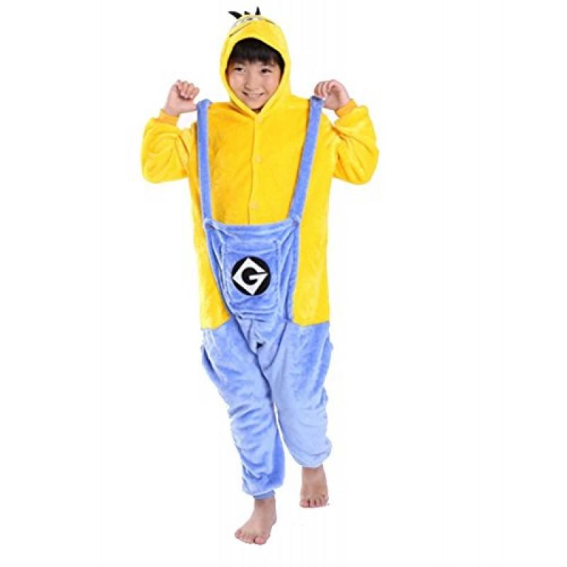 nuovo stile 3e881 69ee3 kigurumi pigiami animali da bimibi bambini tuta costume carnevale Halloween  festa cosplay unisex-XXS/2-3years-Minions