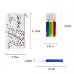 Faburo 32pz Kit | 16 Astucci da Colorare + 16 Colori Penne, Bustine da Colorare  Penna Colorata per Bambini, Sacchettini per Feste e Compleanni per...