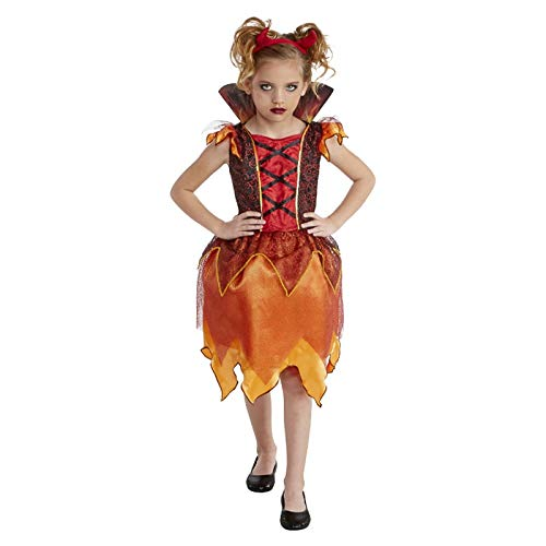 Costume di Halloween per Bambine e Ragazze. Wicked Devil Girl 8-10 Anni