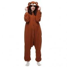 Fandecie Adulto Costume Animale Pigiama Tuta Donna Uomo Tutina Cosplay per Carnevale Animale Halloween
