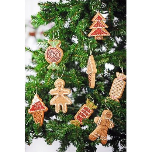 Decorazione di Natale a forma di biscotti PAN DI ZENZERO GIGANTE - Soggetti vari