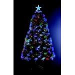 Albero di Natale in fibra ottica + 88 cristalli di ghiaccio + 8 giochi di luce - Altezza 90 cm