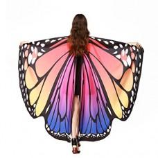 Farfalla Ali scialle sciarpe , feiXIANG® Donne delle Farfalle fata Signore ninfa Nymph Pixie poncho Pavone costume Pashmina Mantelli gilet e ali da...
