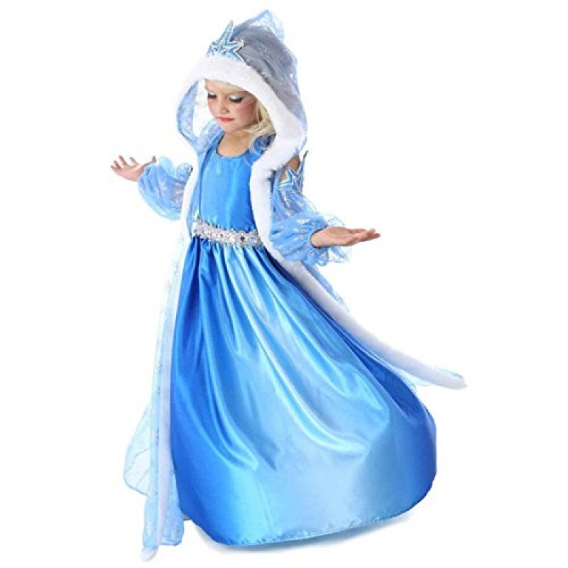 f80f4fed6b80 Vestito Frozen Bambina Dress Carnevale Costume Bimba childen Blu 816 (140 -  5/6 anni)