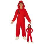 Fiestas Guirca Costume Casa di Carta Tuta Rossa con Cappuccio Bambino Bambina