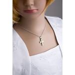fish catenina in argento per ragazzo, ragazza argento sterling 925 ciondolo a croce in argento placcato oro 40 cm