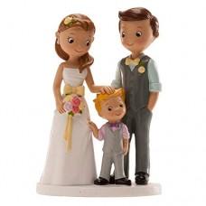 Floreal Cake Topper in Resina Sposi con Bimbo