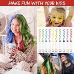 Capelli Gesso,10 Colori Lavabile Non Tossico Colori Temporanei Capelli Bambini Regalo Ragazza per Feste Natale Halloween
