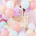 FUNCUBE Decorazioni per Unicorno per Bambini,2 Enormi Palloncini Unicorn Lamina 3D con Happy Birthday Banner,Palloncini di Macaron in Lattice,Forni...