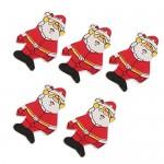 50pcs Legno Babbo Natale Decorazione Regalo Di Natale Albero Appeso