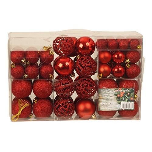 Esclusivo palline di Natale con{100} palline natalizie Set pz colore rosso