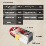 GOLDBAT Batteria 1300mAh 14.8V 4S 100C RC LiPo Batteria con connettore XT60 per droni UAV, quadricoptera FPV Racing, velivoli Come TBS Gemini, Lume...